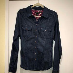 Soft Denim snap front shirt